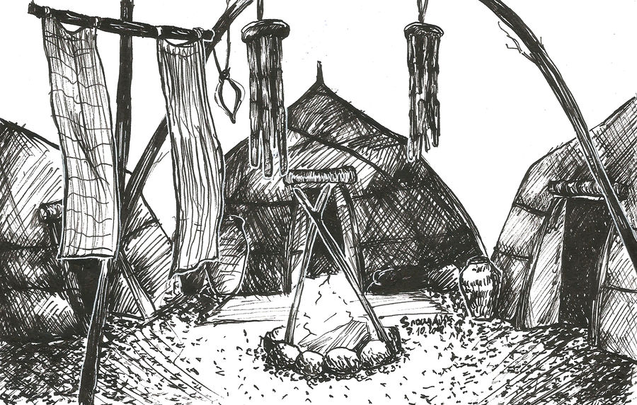 inktober___ashlander_camp_by_snowyavis_dcot2s1-fullview